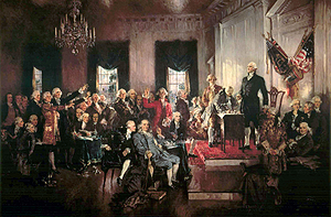 "The Declaration of Independence states that when a government no longer serves the people, it is the people's right to ""alter or to abolish it"""