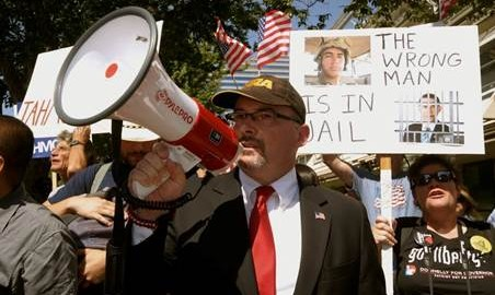 Assemblyman Donnelly Leads Protestors To Demand The Release of US Marine pb